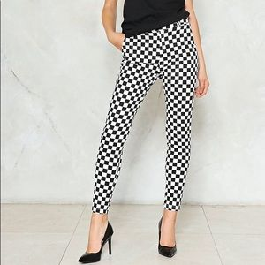 Nasty Gal Check Please Checkerboard Pants